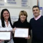 Claudia Bonjour, Susana Llorens y Ariel Passi