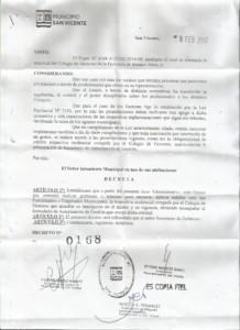 Decreto San Vicente